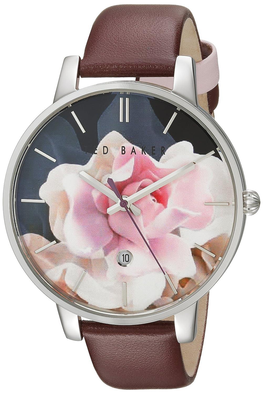 Damen Ted Baker Rose Muster Zifferblatt Armbanduhr te10030692