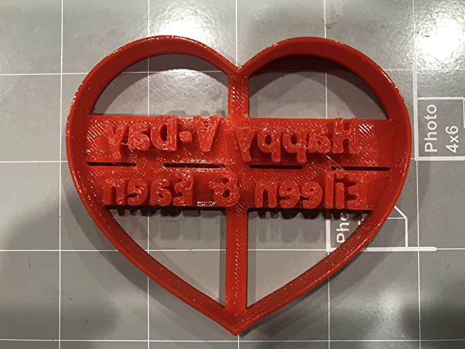 Cortador de galletas personalizado con corazón de San Valentín ...