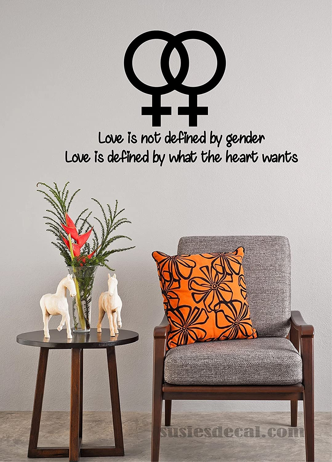 Amazoncom Lgbt Wall Decal Sticker Love Is Not Defined By Gender