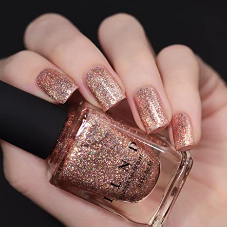 Amazon Com Ilnp Juliette Holographic Nail Polish Rose Gold Beauty