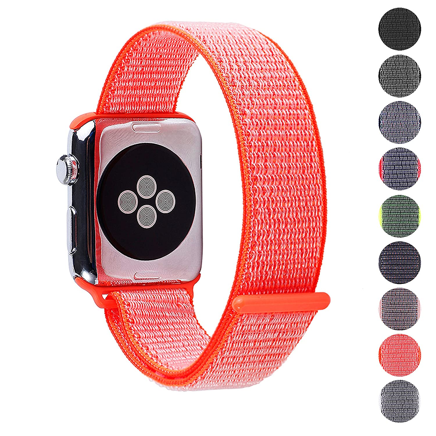 Woven Nylon Replacement Apple Watch Band By Pantheon, Sport Loop Edition, For Men Or Women, Strap Fits The 38mm Or 42mm Apple I Watch, Compatible Series 1, 2, 3, Nike by Pantheon