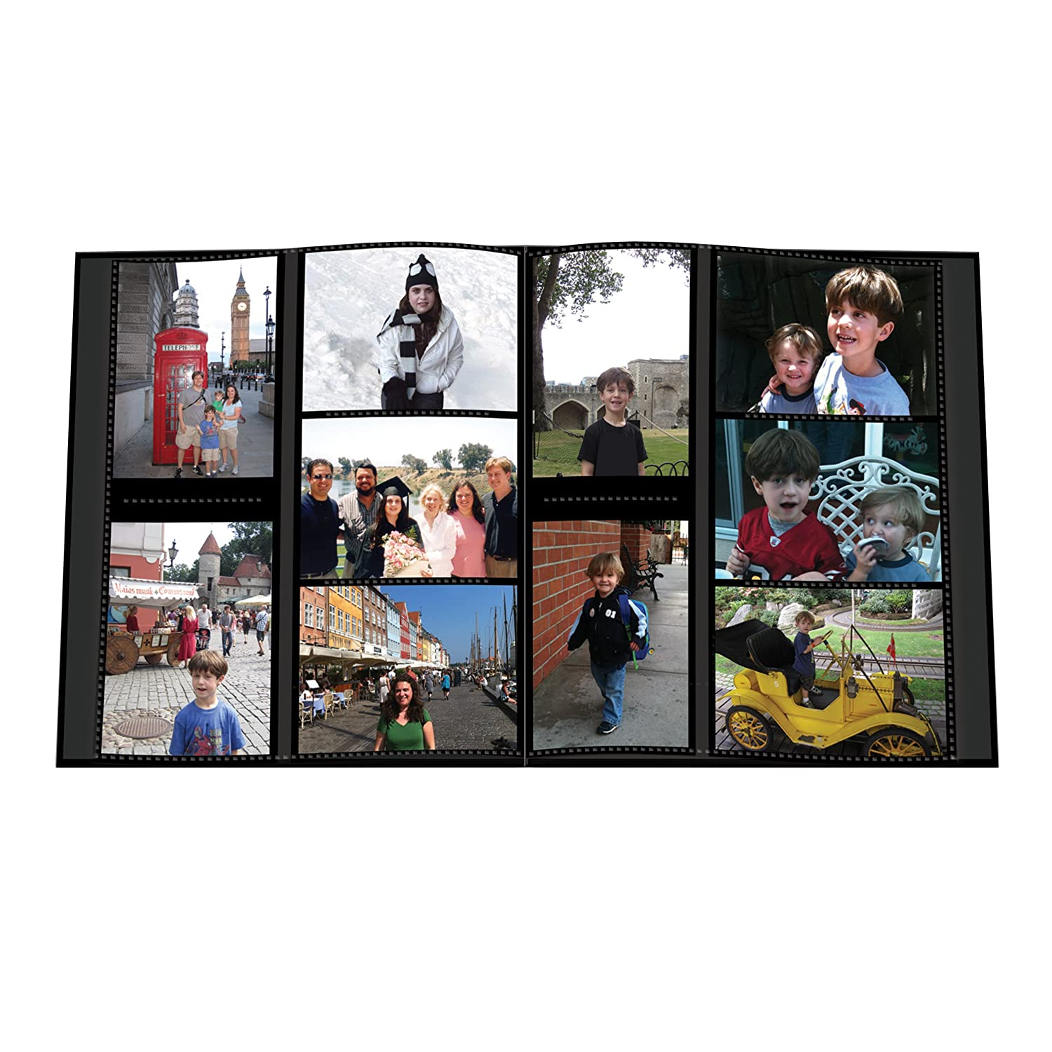 Pioneer Sewn Embossed Collage Frame 5-Up Photo Album 12X12 Family Pioneer Photo Albums 5COL-240FM