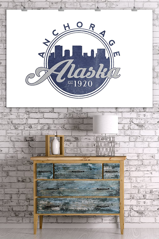 16x24 SIGNED Print Master Art Print - Wall Decor Poster Skyline Seal Blue Anchorage 66684 Alaska