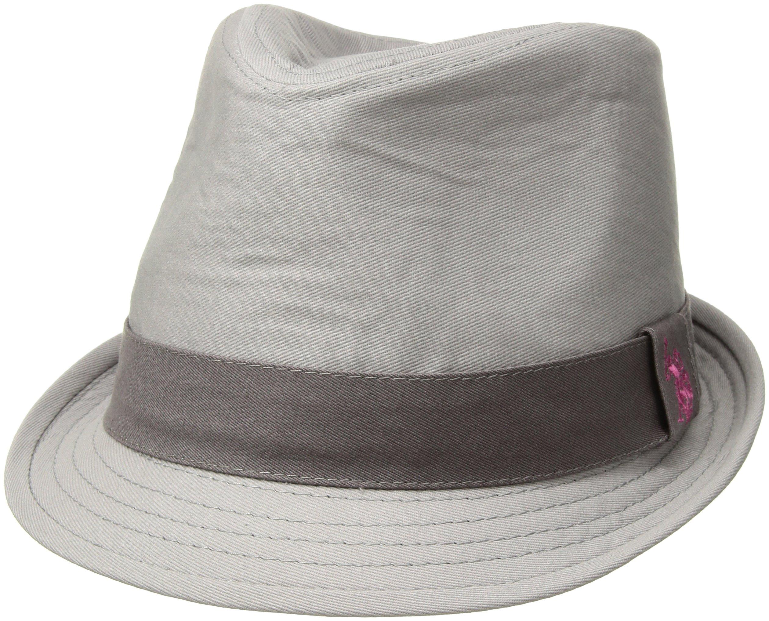 U.S. Polo Assn. Women's Tonal Twill Fedora Hat, Light Grey, One Size
