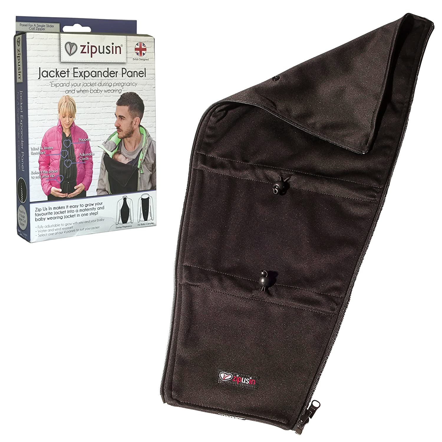 Zip Us In Jacket Expander Panel - Turn Your own Jacket into a Maternity Jacket