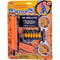 Fun Villa Special Police Gun Set with 50 Bullets and Handcuffs