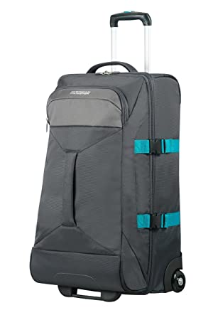 AMERICAN TOURISTER Road Quest - 2 Compartments Wheeled Duffle M Bolsa de Viaje, 69 cm, 62.5 Liters, Gris (Grey/Turquoise): Amazon.es: Equipaje