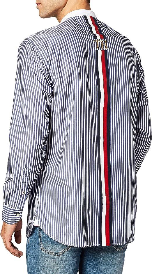 Tommy Hilfiger Relaxed Fashion Grandad Shirt Camisa para ...
