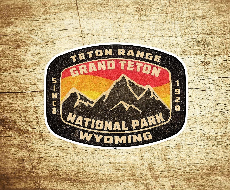 Grand Teton National Park Wyoming Vintage Style Vinyl Decal Sticker 3.75
