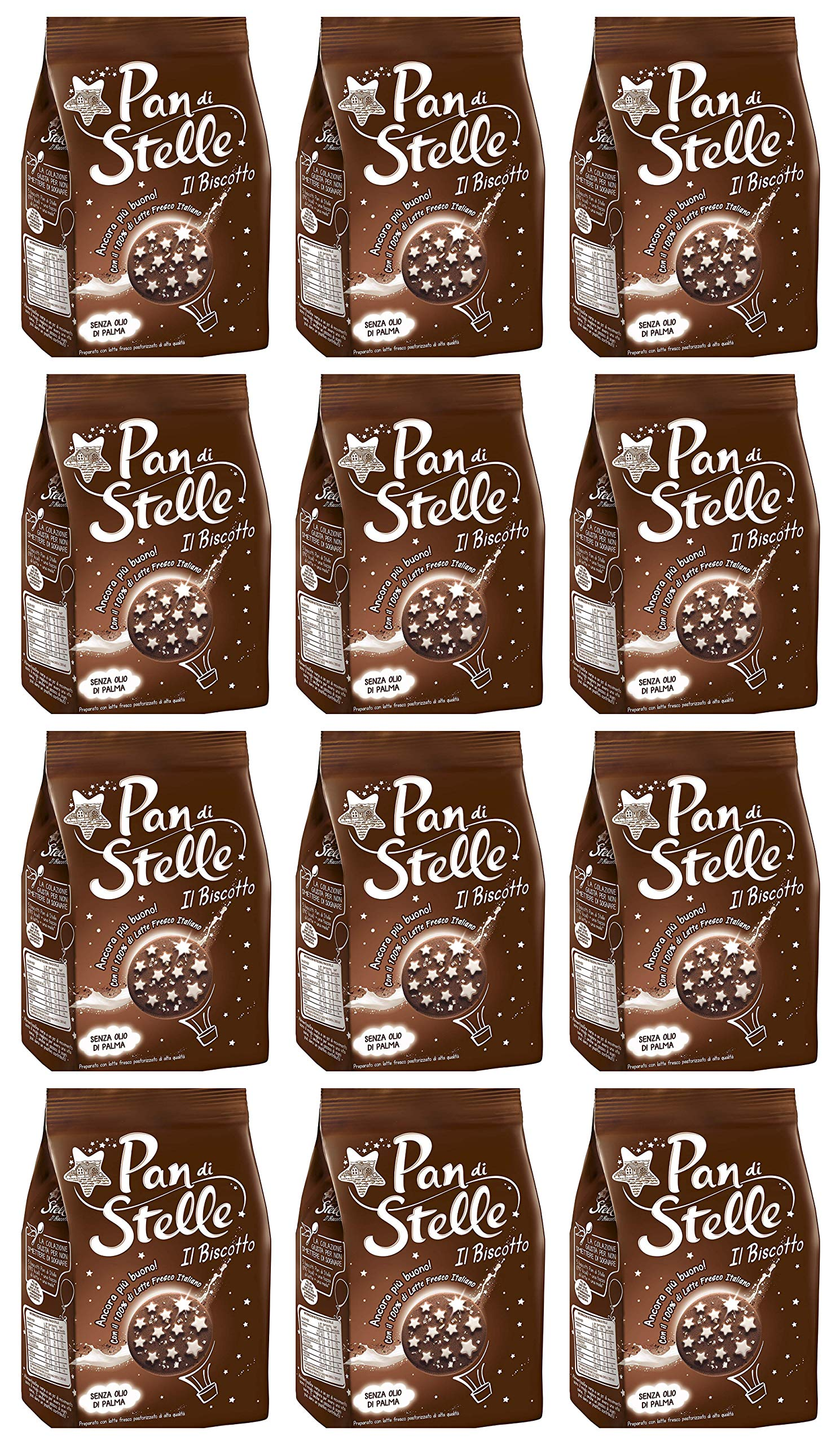 Pan di Stelle - Mulino Bianco 12.3 oz (350g) From Italy Pack of 12