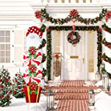 Christmas Yard Signs Stakes Decorations Xmas Plastic Cardboard Yard Decor Outdoor Candy Garden Signs with Stakes for Patio Wi
