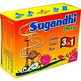 Sugandhi Sambrani/Dhoop 3 in 1 dozen pack(12 x 15)(Rose,Loban,Sandal)