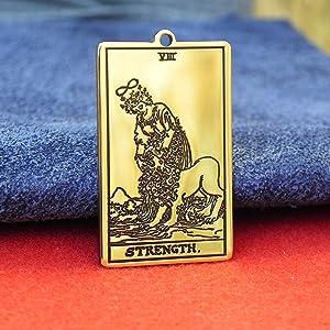 Tarot deck, Tarot Card The STRENGTH, Eighth card tarot, custom pendant