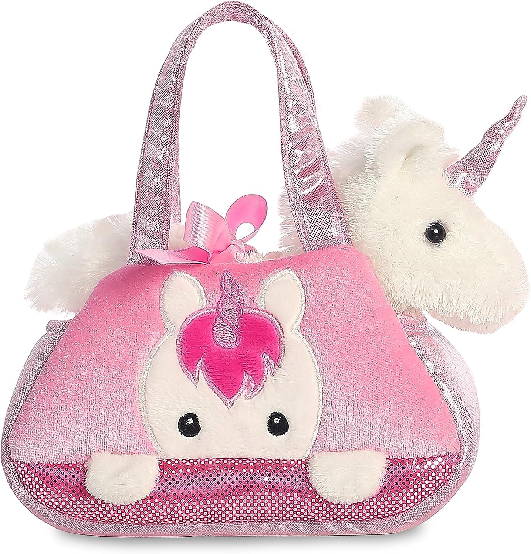 Aurora 32795 - Bolso Fancy Pal Peek-a-Boo para mascotas, unicornio, 21 cm, rosa