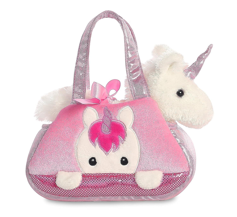 Plüsch Einhorn in rosa Tasche