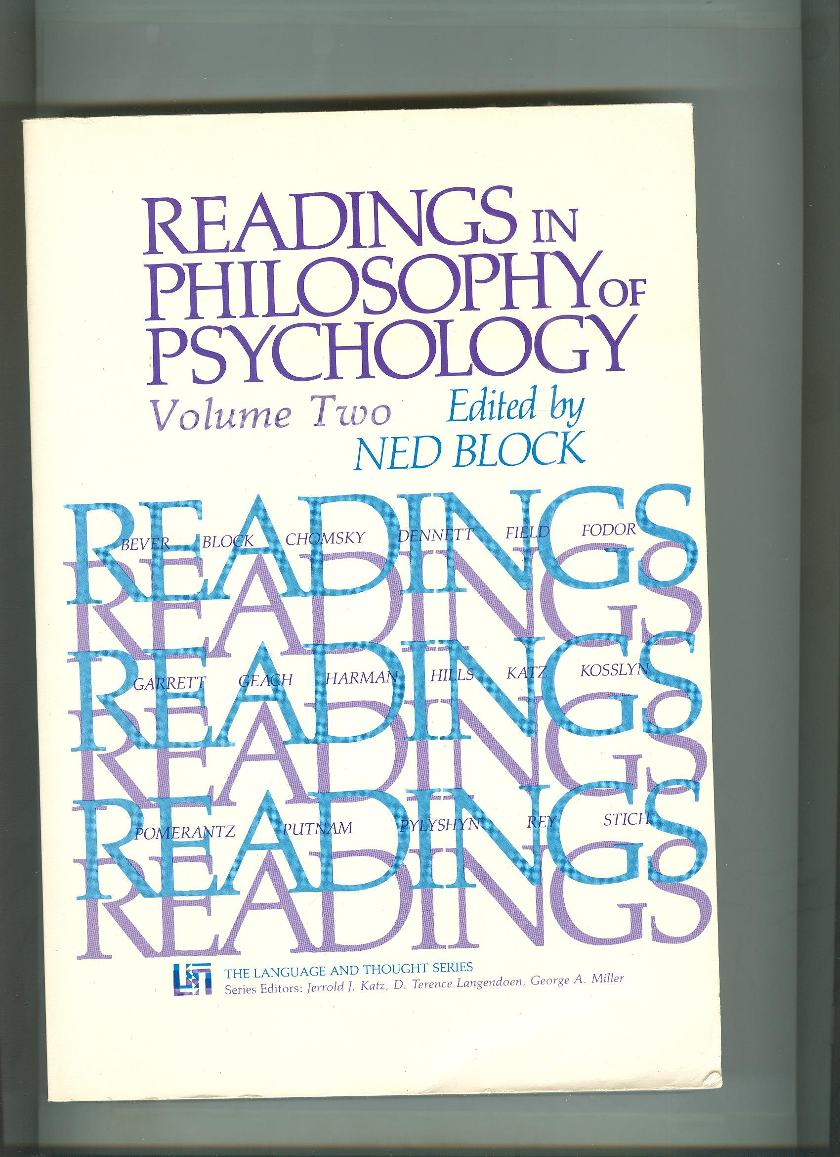 Readings in Philosophy of Psychology, Volume II (Language and Thought Series) pdf