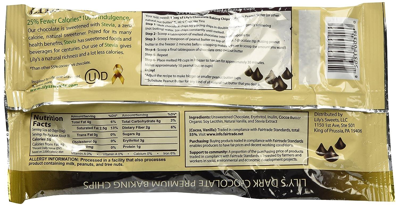 Amazon.com: Lily's Dark Chocolate Premium Baking Chips - 4 Bags ...