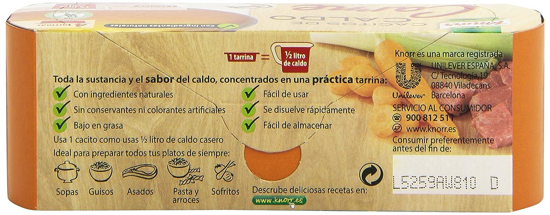 Knorr - Cacito De Caldo Carne, 4 tarrinas: Amazon.es: Alimentación y bebidas