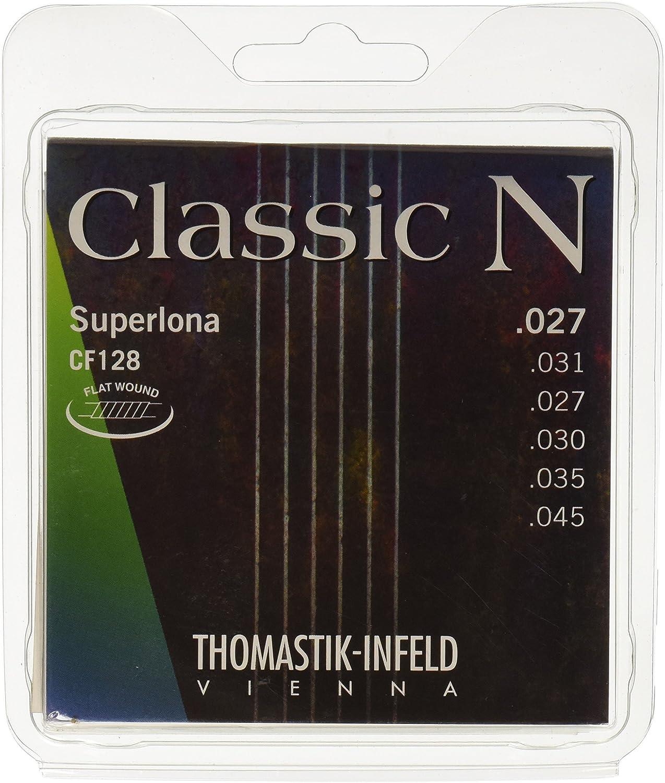 Thomastik Cuerdas para Guitarra Clásica Classic N Series juego Superlona Light CF128 entorchado plano