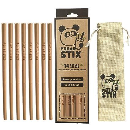 Pajitas De Bambú Reutilizables | 14 Conjunto De Paja Reutilizable | Respetuoso Del Medio Ambiente |