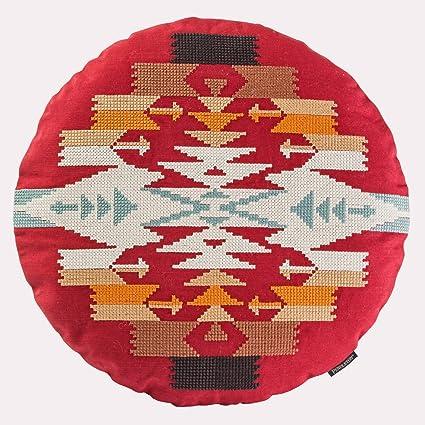 Amazon com: Pendleton Woolen Mills Tucson Cross Stitch Round