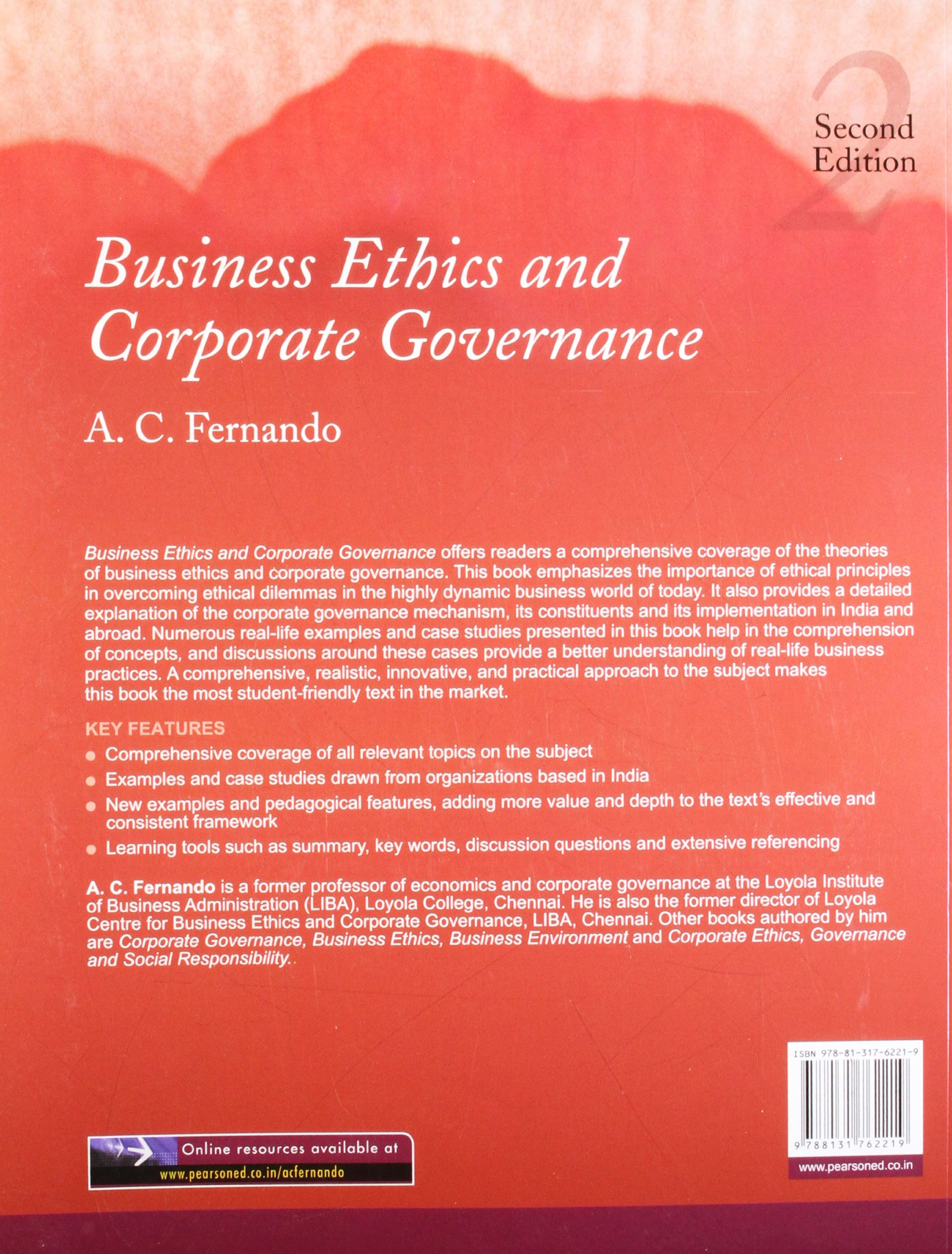 Buy Business Ethics and Corporate Governance, 2e Book Online at Low