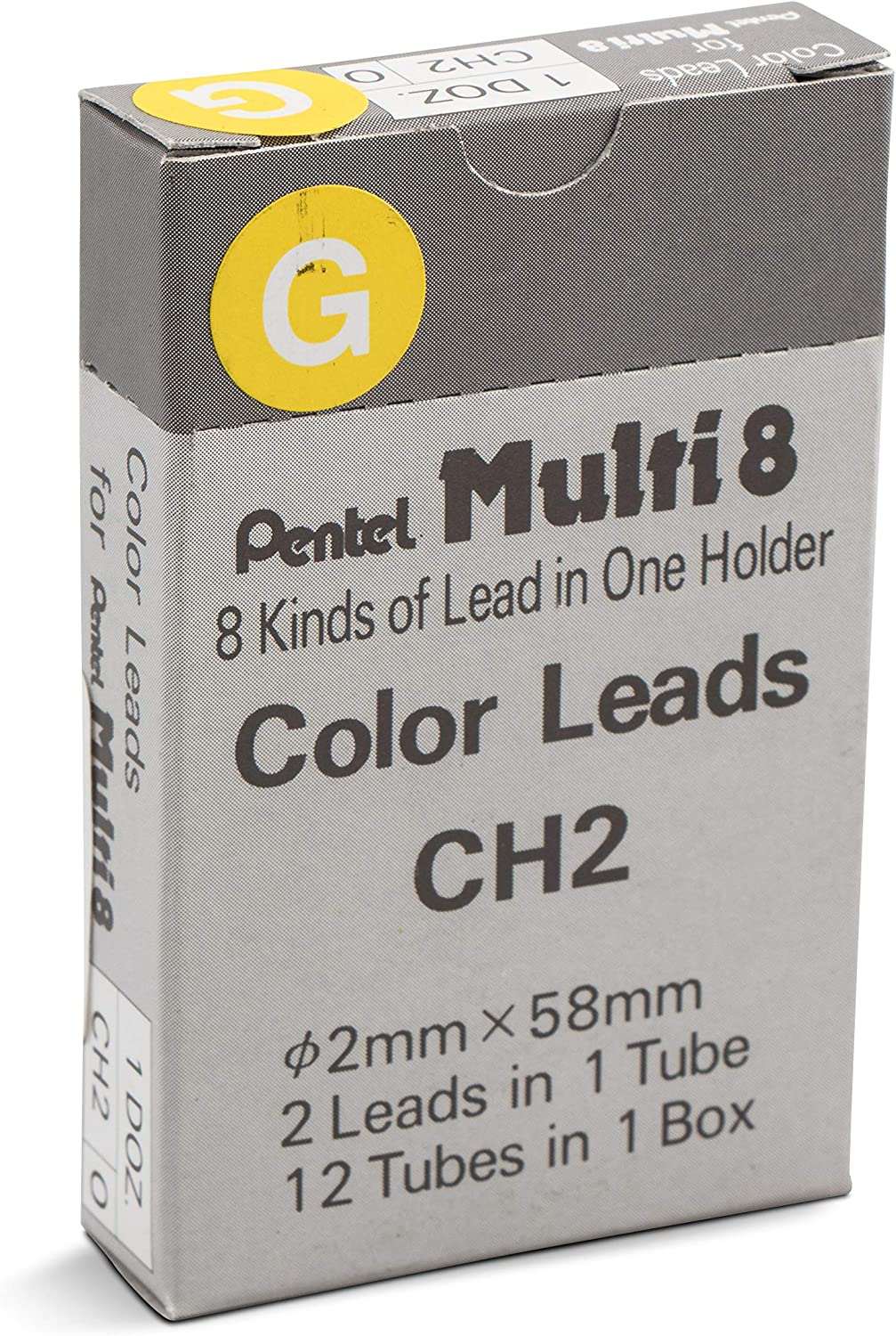 Orange Lead 12 tubes Pentel CH2 Multi 8 2.0mm Colour Pencil Refill