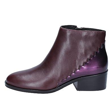 Damen What Stiefelamp; For Bordeaux Stiefeletten Violett CeWxrdBo