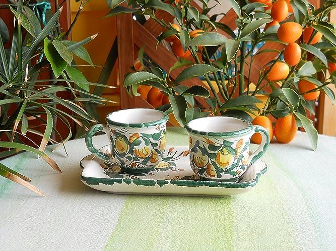 Servizio da caffè in ceramica. le ceramiche di ketty messina