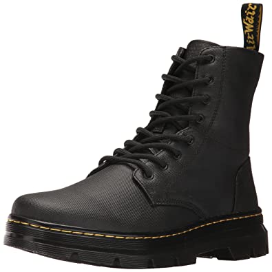 2578cd51a0e3 Dr. Martens Unisex Adults' Combs Black Waxy Coated Boots, 6.5 UK 40 ...