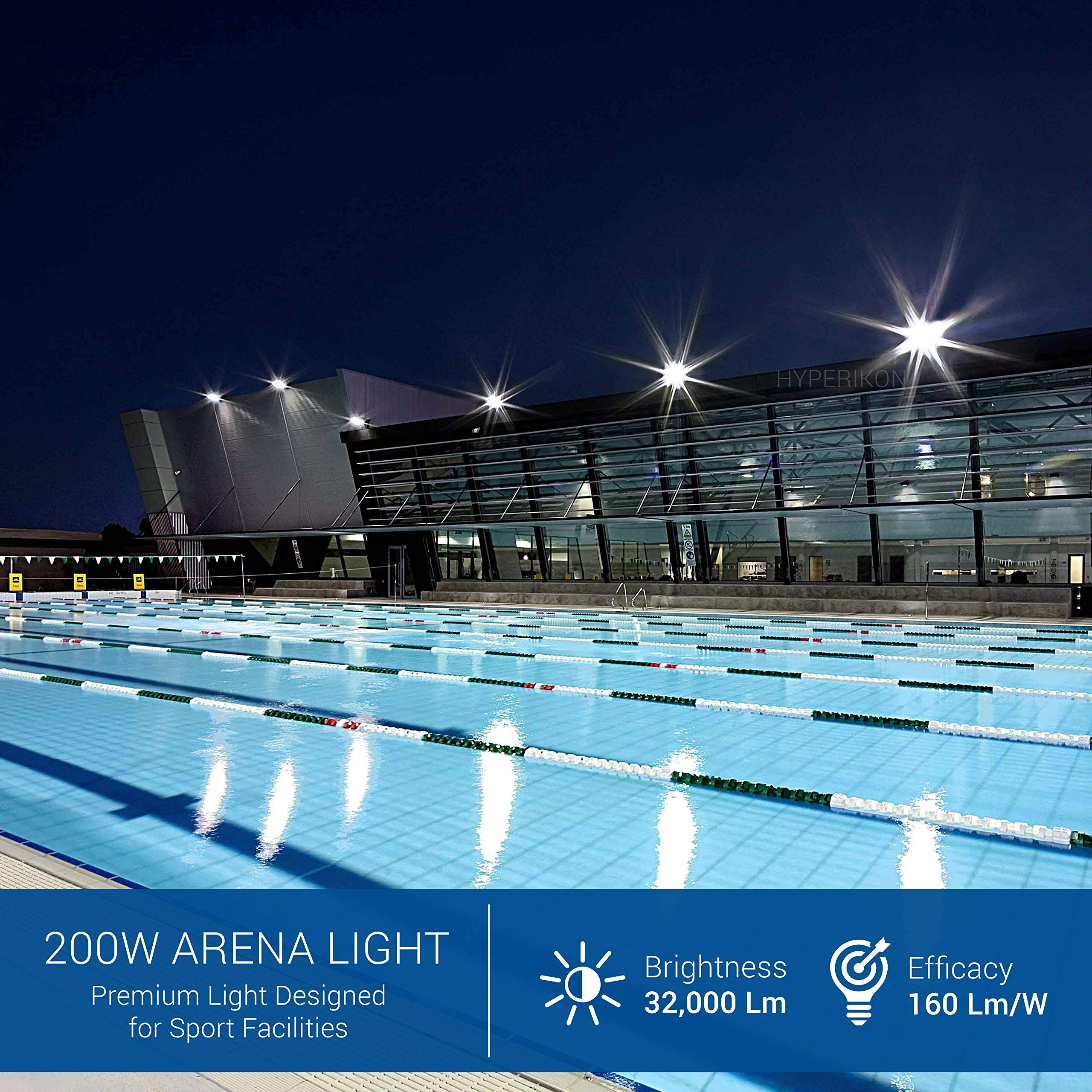Hyperikon Pro LED Stadium Light, 200W Flood