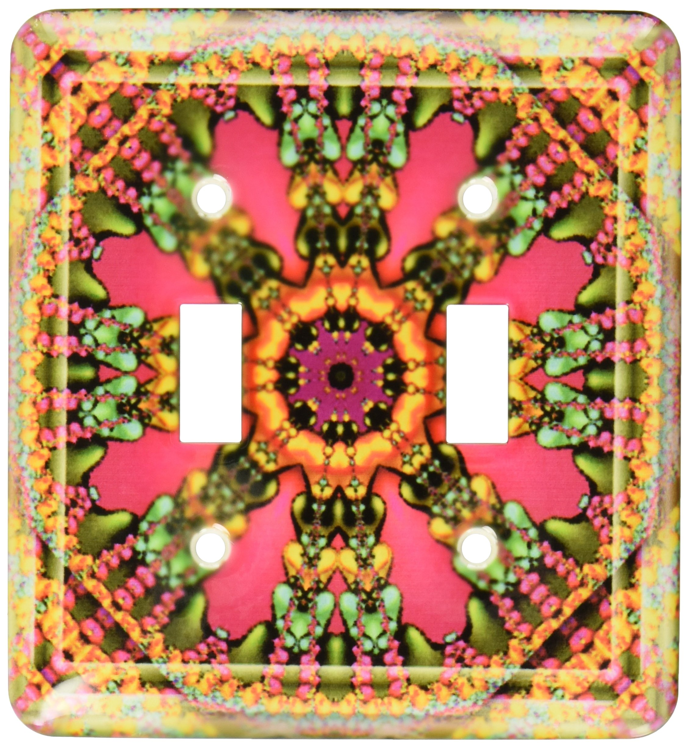 3dRose LLC lsp_24845_2 Mandala 11 Purple Glowing Energy Power Meditation India Orient Peace Harmony Chakra New Age, Double Toggle Switch