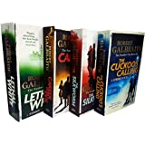 Cormoran Strike by Robert Galbraith 4 Books Collection Set (The Cuckoo's Calling, The Silkworm, Career of Evil, Lethal…