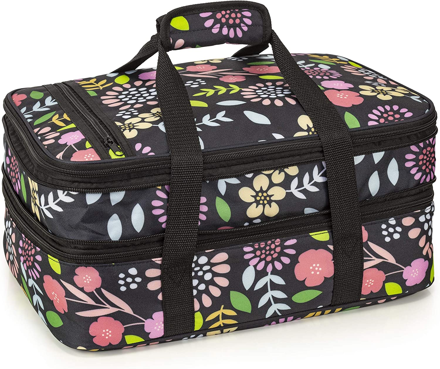 VP Home Double Casserole Insulated Travel Carry Bag (Garden Party)