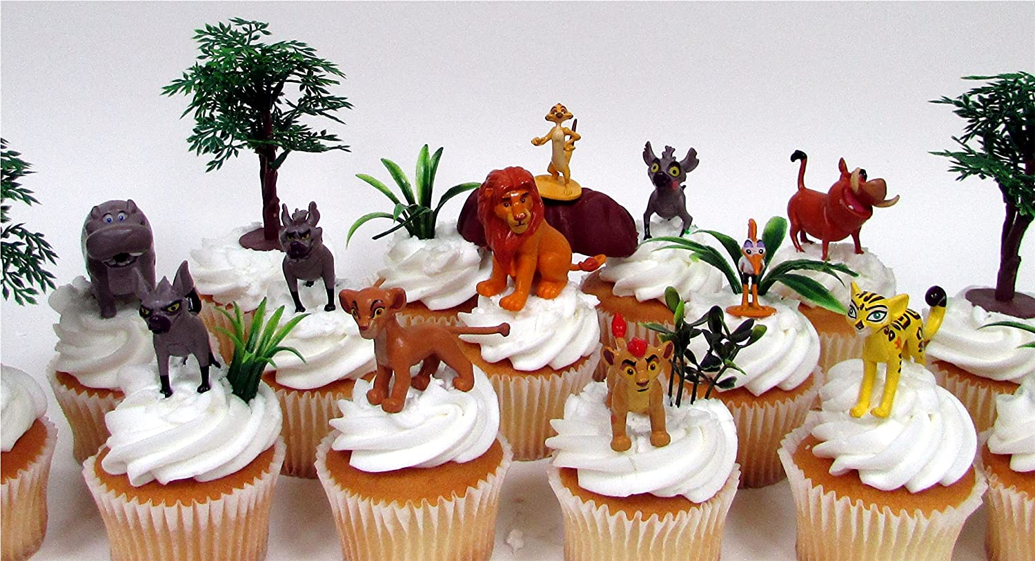 Decorative Themed Accessories Figures Average 1.5 to 2 DISNEY LION KING LION GUARD 20 Piece Birthday Cupcake Topper Set Featuring Kion and Pride Land Friends
