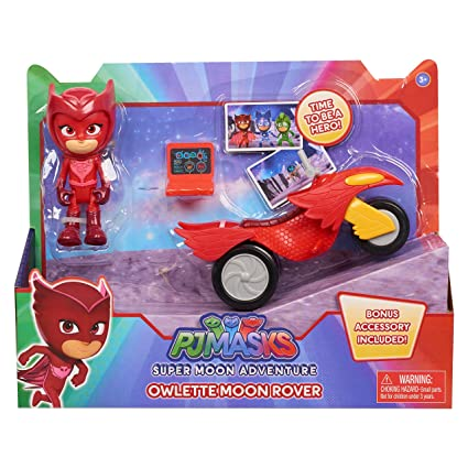 PJMASKS Super Moon Rovers Owlette Toy, Red/Yellow/Black
