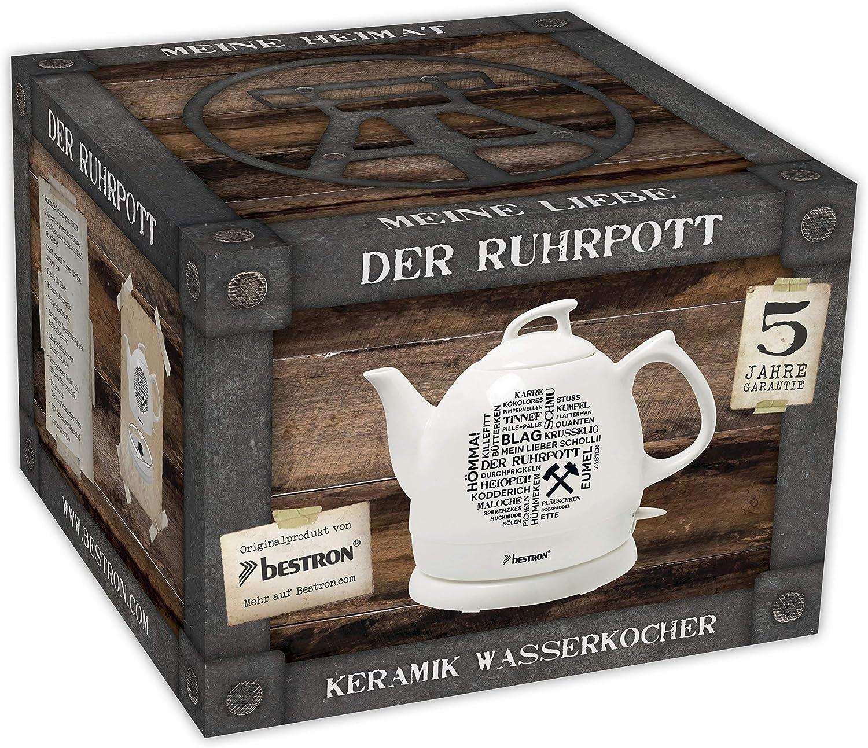 Keramik Wasserkocher Ruhrpott-Design *DTP800RP*