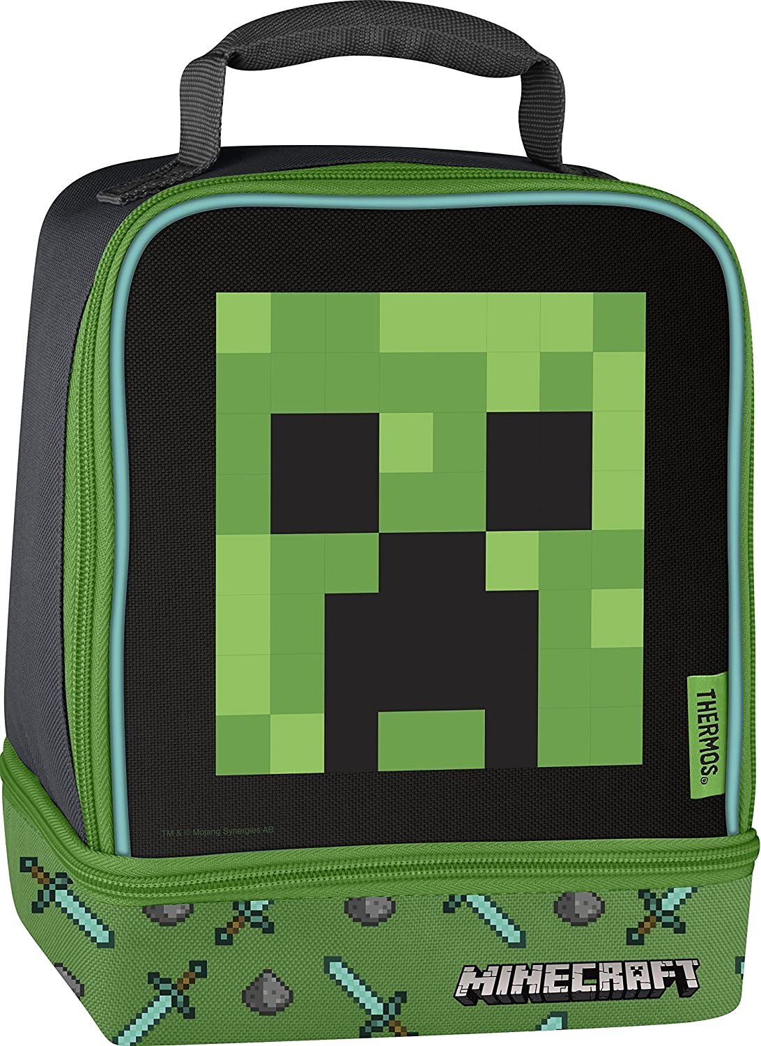 Thermos Licensed Dual Lunch Kit, Minecraft - Creeper