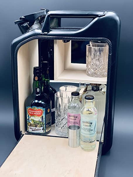 Minibar para hombres//Mancave Jerrycan Bar Jerrybar la original bidón de agua: Amazon.es: Juguetes y juegos