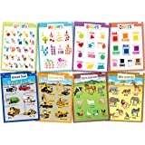 8 Educational Posters for Toddlers - Includes: Alphabet, Numbers, Shapes, Colors, Cars, Construction Zone, Farm & Wild Animals - Posters for Kids - Size 17x22