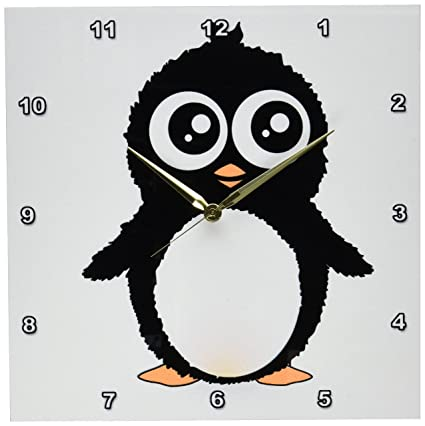 3drose Dpp 113120 2 Mignon Pingouin Noir Et Blanc Dessin Anime