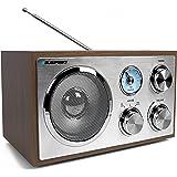 BLAUPUNKT RXN 180 UKW Küchenradio, Nostalgie - Retro Radio mit Bluetooth, AUX & Analog Tuner (UKW/MW, 3 W RMS) braun