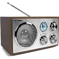 Blaupunkt RXN 180 Vers. 2018   Büroradio mit Bluetooth und Aux In   UKW/FM Küchenradio   Kofferradio mit Holzgehäuse   Nostalgieradio mit Teleskopantenne   Retro Badezimmer Radio mit Analog-Tuner