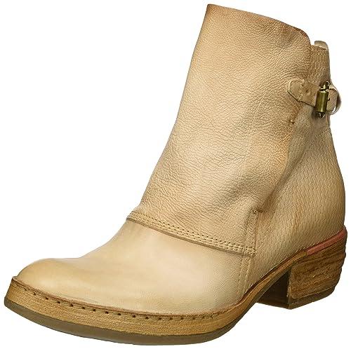 A.S.98 - Botas de Vaquero de Cuero Mujer, Color Beige, Talla 39 EU: Amazon.es: Zapatos y complementos