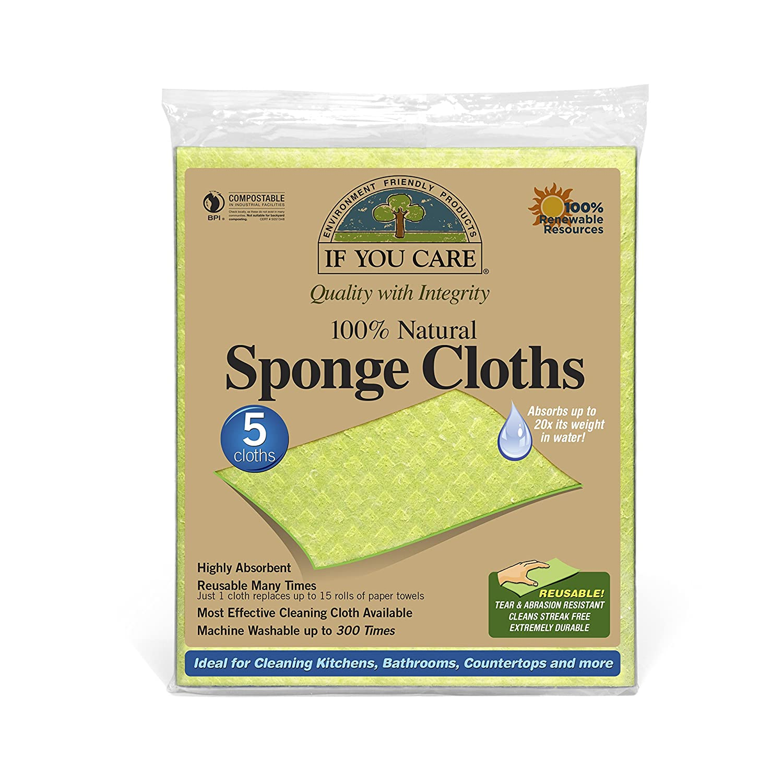 If You Care Sponge Cloths x5 72318
