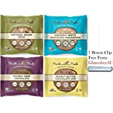Munk Pack Protein Cookie Variety 2.96 oz - All 4 Flavors 1 of each (4 Pack)+ 1 Bonus Clip From GlutenFree4U