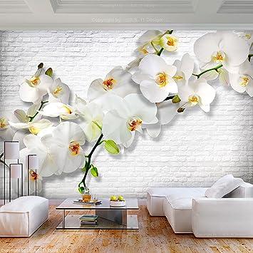 Wallpaper steine blumen  decomonkey | Fototapete Blumen Steinwand Stein 350x256 cm XL ...