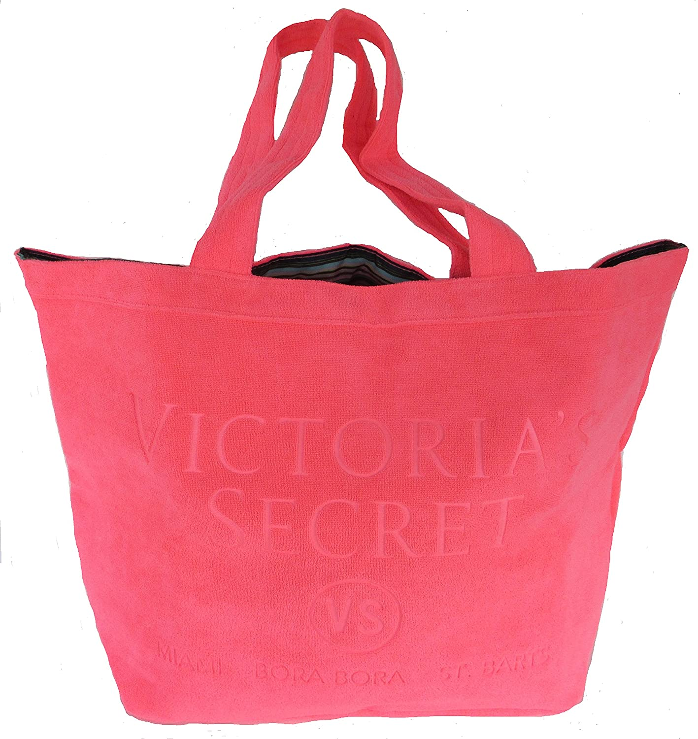Victorias Secret Beach Day Terry Tote Hot Pink
