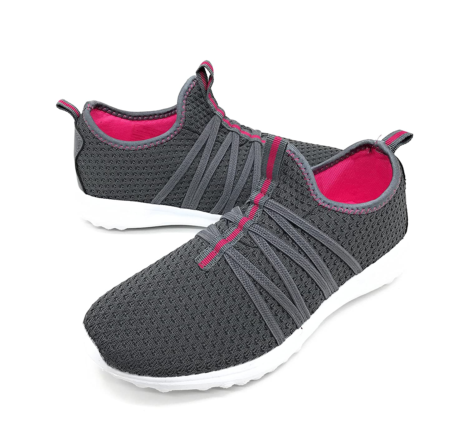 Blue Berry EASY21 Women Casual Fashion Sneakers Breathable Athletic Sports Light Weight Shoes B079VXLTT7 10 B(M) US|Grey01
