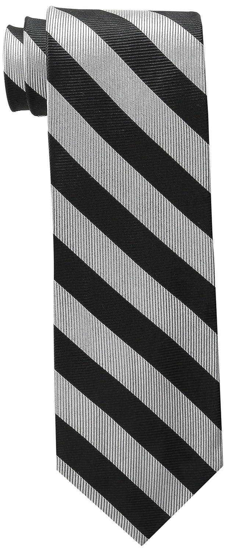 79efa8896d1e Bruno Piattelli Men's Club Stripe Silk Tie, Black/Gold, One Size at Amazon  Men's Clothing store: